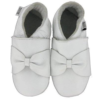 Oxxy babyslofjes wit met strik