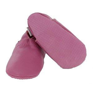 Oxxy babyslofjes basic roze met anti slip zool