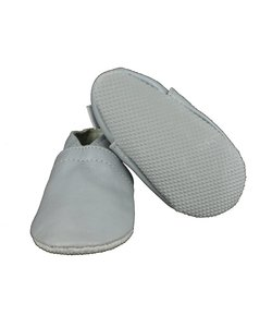 babyslofjes basic zilver met anti slip zool