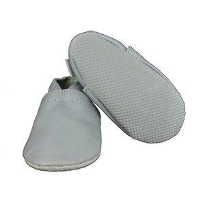 Oxxy babyslofjes basic zilver met anti slip zool