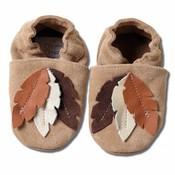 Hobea Babyslofjes veren suede bruin
