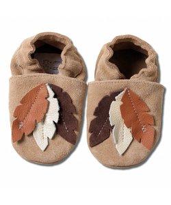 Babyslofjes veren suede bruin