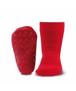 anti-slip sokken Stoppi uni rood