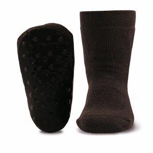 Ewers anti-slip sokken Stoppi uni bruin