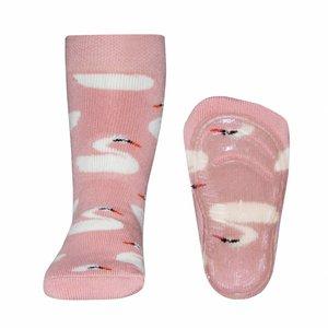 Ewers anti-slip sokken Stoppi Zwaan roze