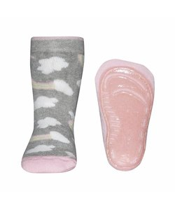 anti-slip sokken Stoppi Wolken grijs