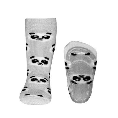 Ewers anti-slip sokken Stoppi Panda grijs