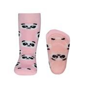 Ewers anti-slip sokken Stoppi Panda roze