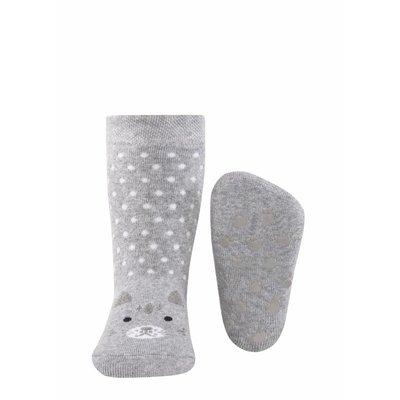 Ewers anti-slip sokken Stoppi poes grijs