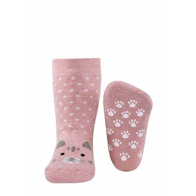 Ewers anti-slip sokken Stoppi poes roze