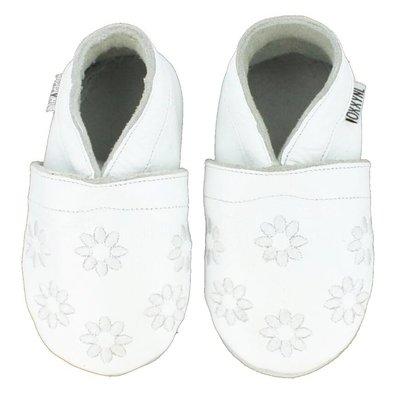 Oxxy babyslofjes gebloemd wit