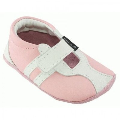 Baby Paws babyslofjes Sprint roze wit