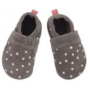 Anna und Paul babyslofje  uni grijs met sterren