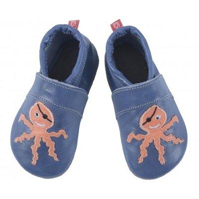 Anna und Paul babyslofje octopus blauw