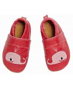 babyslofje walvis rood