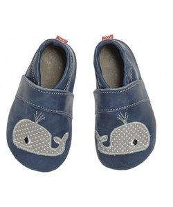 babyslofje walvis blauw