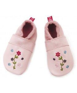 babyslofje bloemetjes roze