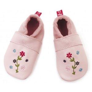 Anna und Paul babyslofje bloemetjes roze