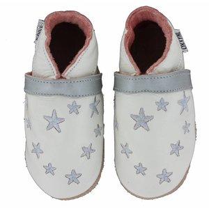 Oxxy babyslofjes wit met zilveren sterren