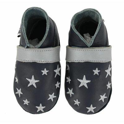 Oxxy babyslofjes blauw met zilveren sterren
