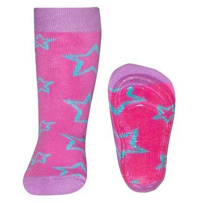 Ewers anti-slip sokken Stoppi Sterren roze
