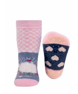 anti-slip sokken Stoppi Schapen roze