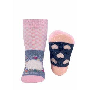 Ewers anti-slip sokken Stoppi Schapen roze