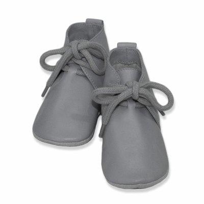 Baby Dutch babyslofjes grijs hoog model