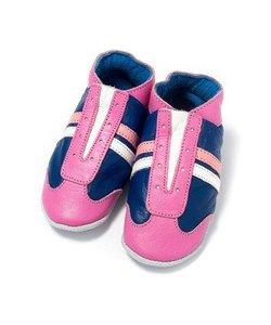 babyslofjes jogger blauw roze