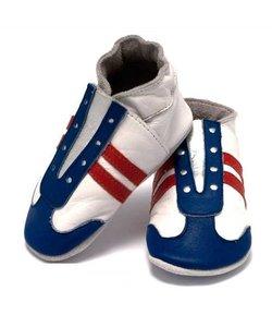 babyslofjes jogger rood wit blauw