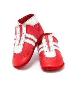babyslofjes jogger rood