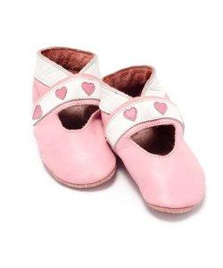 babyslofjes open hartjes roze