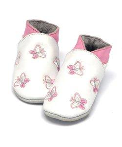 babyslofjes vlinder wit
