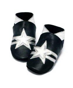 babyslofjes zwart met ster