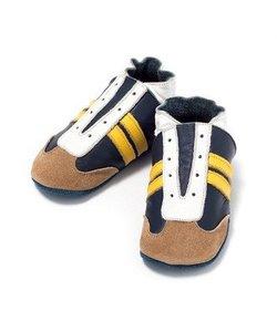 babyslofjes jogger blauw geel