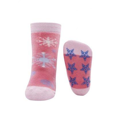 Ewers anti-slip sokken Sneeuwsterren Roze