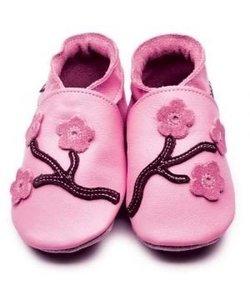 Babyslofjes Bloemen roze