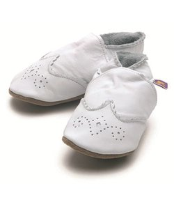 babyslofjes baby brogue white