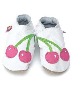 babyslofjes cherry baby white pink