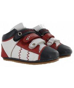 loopschoentjes klittenband rood wit blauw
