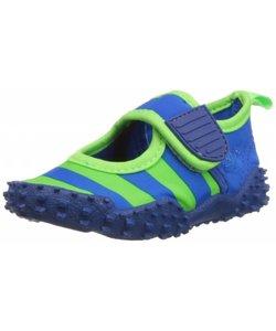 waterschoenen streep blauw groen