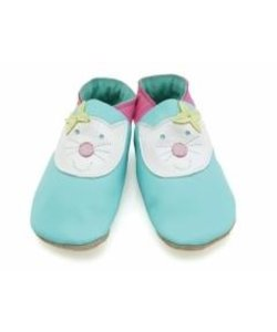 babyslofjes happy cat turquoise