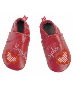 babyslofjes hartjes rood