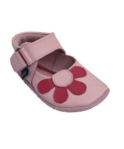 babyslofjes Amanda roze met fuchsia bloem