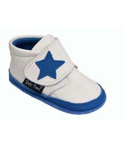 babyslofjes Jak Rap Star wit met blauwe ster