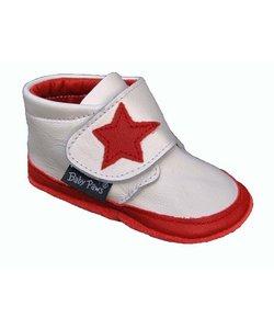 babyslofjes Jak Rap Star wit met rode ster