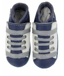 babyslofjes veter blauw wit
