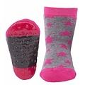 Ewers anti-slip sokken Stoppi sterren grijs fuchsia