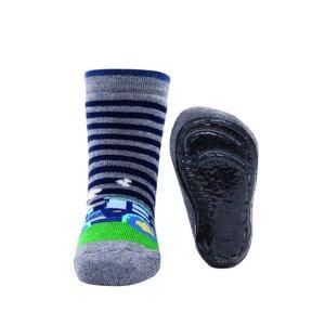 Ewers anti-slip sokken Stoppi tractor grijs melange