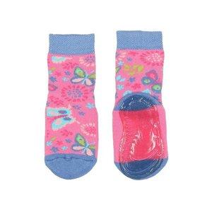 Ewers anti-slip sokken Stoppi softstep vlinders roze